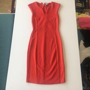 Bright Orange Midi Dress XS